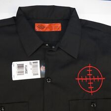 NEW NWT DICKIES EMBROIDERED GUN RIFLE SHOOTING SCOPE SITE MECHANIC WORK SHIRT XL