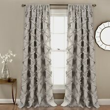 """Ruffle Curtains Gray Home Decor For Living Room Bedroom Dining 84"""" X 54"""""""