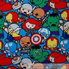 BonEful Fabric Cotton Quilt Super Hero Avenger Captain America Cartoon Boy SCRAP