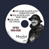WW1 World War 1 Illustrated War Vintage Books Collection 24 PDF EBooks on 1 DVD