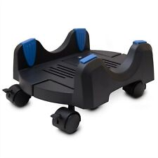 New listing Black Plastic Stand for Atx Case, Adjustable Width from 7� to 12� Caster Wheels