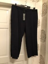 Ladies New Laura Clement Navy Trousers Size 22