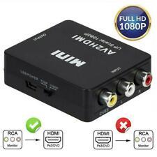 Convertitore Da RCA A HDMI, Amput 1080P RCA Composito CVBS AV A Video HDMI