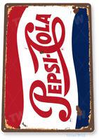 TIN SIGN Pepsi Cola Retro Metal Décor Wall Art Soda Store Shop A563