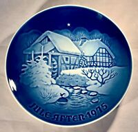 "B&G-Bing&Grondahl-1975 Christmas Plate-""Christmas at The Old Water-Mill""-Denmark"