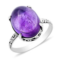 BALI LEGACY 925 Sterling Silver Amethyst Solitaire Ring Jewelry Size 6 Ct 9.7