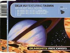 DEJA VU TASMiN My Heart Will Go On UK CD Single 1998 Almighty Celine Dion cover