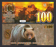 Canada 2013 POLYMER Local Currency BC, 100 Community Dollars UNC