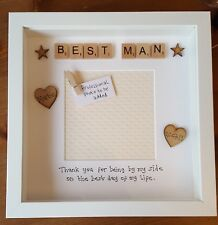 Usher/ Best Man/ Page Boy Box Photo Frame Gift from Groom and Bride