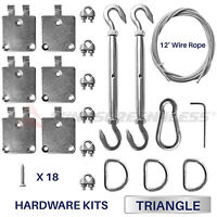 Sun Shade Sail Stainless Steel Wire 8 inchTriangle Hardware Installation Kit