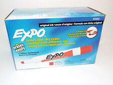 Expo Original Bold Color Chisel Tip Red Dry Erase Marker Pn 83002 Pack Of 12 New