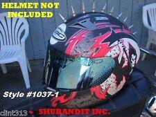 Motorcycle cruiser helmet mohawks metal helmets spikes strips mohawk harley H&D