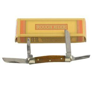 Rough Rider Smooth Tobacco Bone Handles Mini Congress Pocket Knife RR931