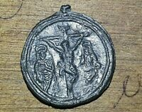 "Mexican Colonial Sacrum Art Medal ""crucifixion"" Baroque Period"