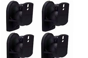 2 pair Universal Bose Jewel Cube Speaker Wall Mount - Stand - Bracket 4 Mounts