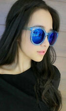 Mohawk Mujer Extragrande Gafas Sol De Diseñador Azul & ESPEJO AZUL UV400 Y34