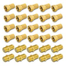 F Stecker Verbinder 20x Stecker 10x Kupplung vergoldet Doppel Buchse Sat Kabel