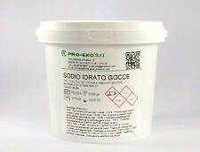 IDROSSIDO DI SODIO 1 KG PURO 99,9% BARATTOLO GOCCE BP