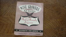 OLD NEW ZEALAND WINE SPIRIT LABEL, NZ WINE GROWERS, HENDERSON, CHERRY BRANDY