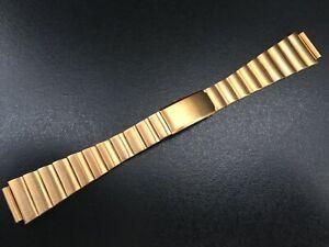 "Bracelet/Bracelet Watch Type Omega / Heuer 14MM Coated Gold 18K "" New Old Stock"