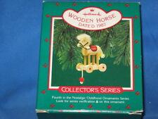 Hallmark Wooden Horse Collector's Series 1987 Christmas Tree Ornament