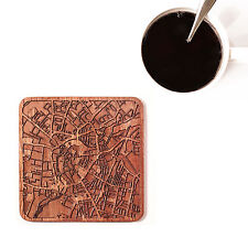 Cambridge map coaster One piece  wooden coaster Multiple city IDEAL GIFTS