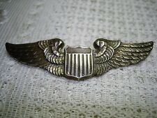 Beautiful Original WWII US Army Air Force Sterling Silver Luxenberg Pilot Wing