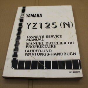 MANUEL REVUE TECHNIQUE D ATELIER YAMAHA YZ 125 N 1985 SERVICE MANUAL YZ125 125YZ