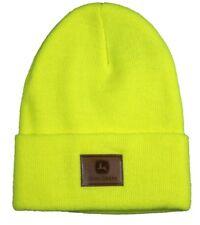 NEW John Deere Neon Yellow Knit Beanie Stocking Cap LP69520