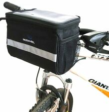 Cycling Bike Bicycle Handlebar Bar Zipped Bag Front Basket With Clear Map Pocket