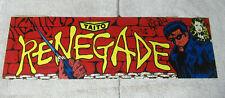 "original Taito Renegade 22 -6 3/4"" sign marquee cF89"