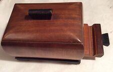 Vintage Wooden Art Deco Single Cigarette Dispenser Casket Style (2)