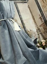"NEW Heavy Weight Huge Cotton Velvet Graphite Grey112""Long52""W Lined Bay Curtains"