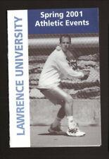 Lawrence Vikings--2001 Tennis/Spring Sports Pocket Schedule