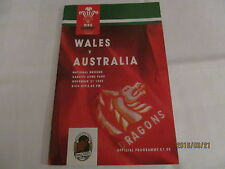 Wales v Australia. Rugby Union.1992.