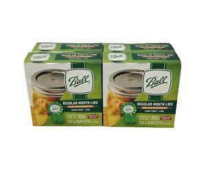 Ball Regular Mouth Canning Lids 4 Boxes Of 12 (48 Lids Total) Brand New Sealed