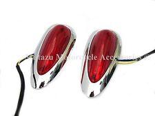 Tear Drop LED Lights (Pair) for Harley Touring Hard Saddlebags Saddle Bags
