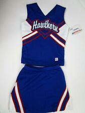 "New Girls Rwb Hawthorn Cheerleader Uniform Outfit Costume 28"" Top Elastic Skirt"