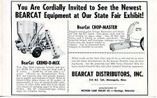 1966 Dealer Print Ad of Western Land Roller Bearcat Dist Grind-O-Mix Chop-Master