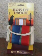 Designer Dog Poop Bags Dispenser Belt Pouch Holder Lot Western Howdy Pooch Tote