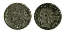 pcc1840_121) Hungary Franz Joseph I 1 Korona 1895 AG Toned
