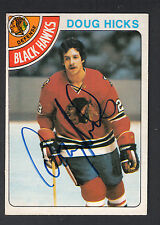 Doug Hicks Hand Signed 1978-79 O-Pee-Chee Hockey Card #228 In Person Auto