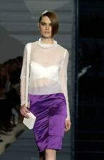 GUCCI Tom Ford RUNWAY Spring 2001 Purple Silk Skirt Sz US 4 IT 40