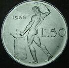 1966 Repubblica Italiana 50 lire QFDC