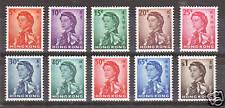 Hong Kong Sc 203-12 MLH. 1932 QEII definitives, LH & VF
