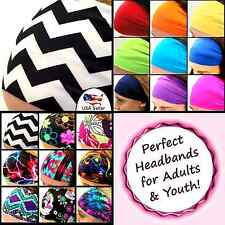Crossfit Headbands Wide Sports Workouts Chevron Fashion Adults Youth  [Electra]