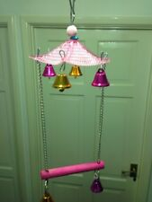 BIRD CAGE SWING PEGONIA STYLE, BEAUTIFUL WITH LOTS OF BELLS