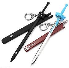 2PCS Sword Art Online SAO Kirito Asuna Blade Keychain Key Ring Gift Collectible