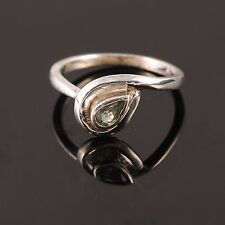 HANDMADE NATURAL GREEN SAPPHIRE 925 SOLID STERLING SILVER RING JEWELRY CHRISTMAS