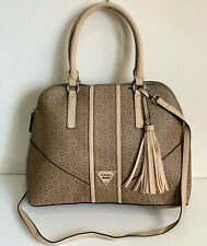 NEW! GUESS CAMP COLLECTION MOCHA BROWN CONVERTIBLE SATCHEL CROSSBODY SLING BAG